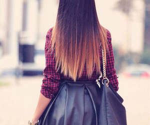bag, hair, and ombre image