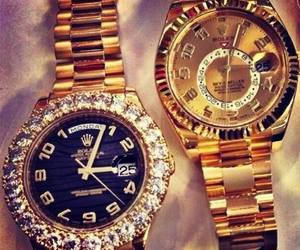 rolex, gold, and luxury image