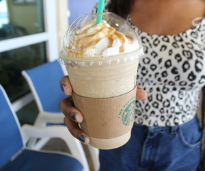 starbucks, drink, and food image