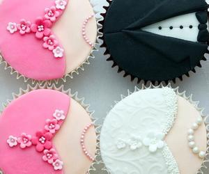 cupcake, dress, and food image