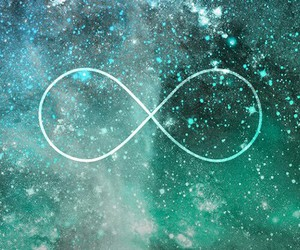 infinity, galaxy, and forever image