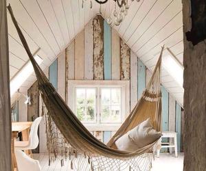 home, room, and hammock image
