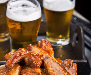 food, Chicken, and beer image