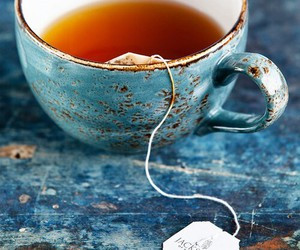 tea, cup, and blue image