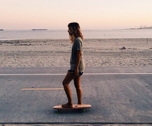 girl, indie, and skate image