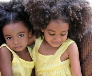girl, Afro, and kids image