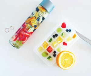 fruit, water, and fit image
