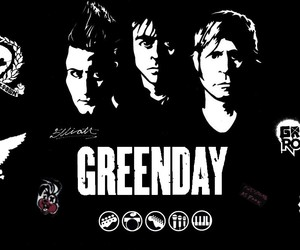 billie joe armstrong, tre cool, and black image