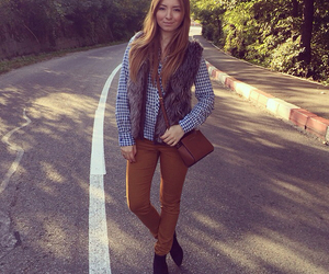 autumn, bag, and black boots image