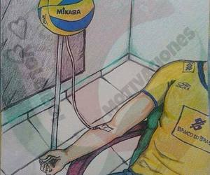 brasil, volleyball, and volei image