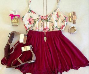 clothes, flowers, and shoes image