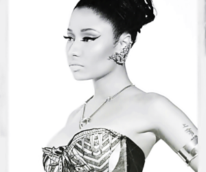 black and white, Queen, and nicki image