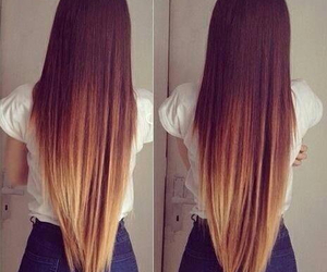 hair, long, and ombre image
