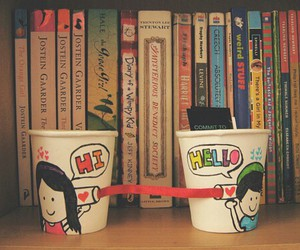 love, book, and hello image