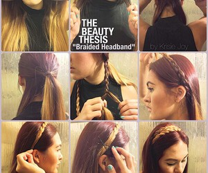 braid, brown, and hairstyle image