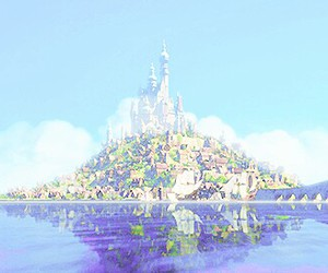 castle, disney, and rapunzel image