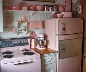 pink, kitchen, and pastel image