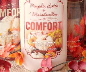 bath, body, and fall image