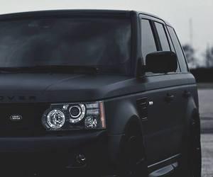 car, black, and range rover image