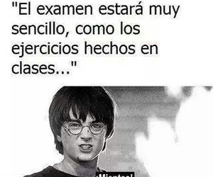 harry potter, exams, and funny image