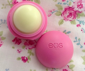 eos, pink, and lip balm image