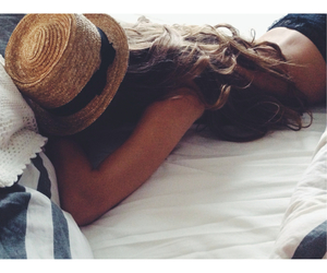 bed, girl, and cosy image