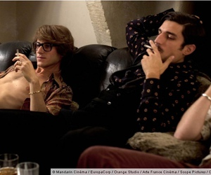 gaspard ulliel, louis garrel, and saint laurent image