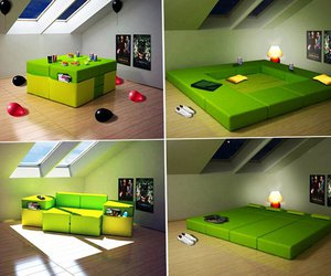 bed, cool, and green image