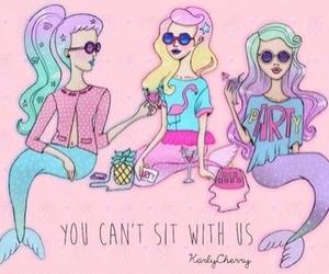 mermaid, mean girls, and pink image