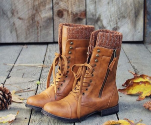 boots, autumn, and fashion image