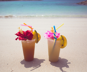 summer, beach, and cocktail image
