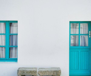 blue, house, and pretty image