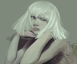 chandelier, music, and Sia image