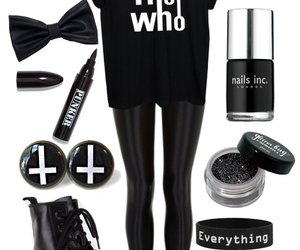 outfit, rock, and style image