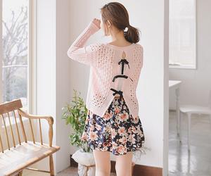 skirt, floral, and kfashion image