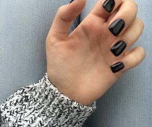 black, nail, and black and white image
