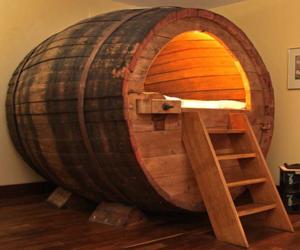 barrel, bed, and design image