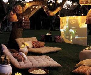 backyard, lawn, and popcorn image
