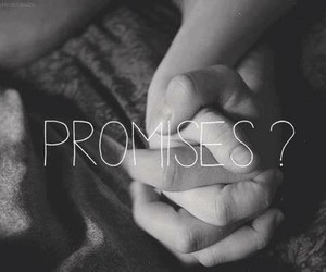 promise, love, and black and white image