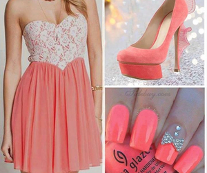 dress, fashion, and nails image