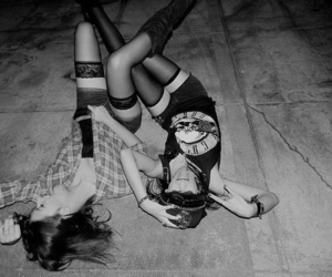 black and white, friends, and fun image