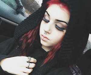 alternative, beauty, and black hair image