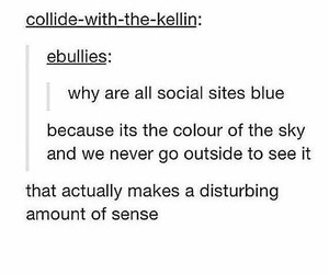 blue, funny, and social sites image