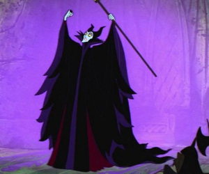 sleeping beauty, disney, and maleficent image