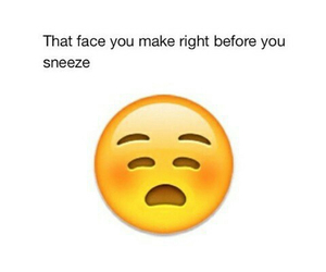 funny, face, and sneeze image