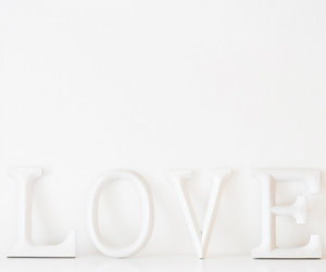 love, white, and photography image