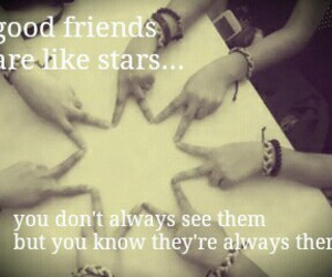 friendship, quotes, and stars image
