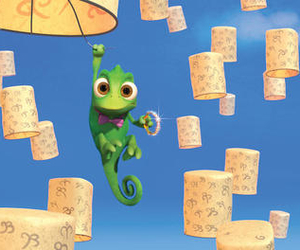 pascal, tangled, and disney image
