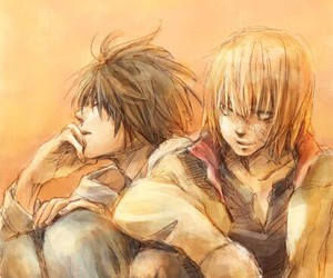 death note, mello, and L image