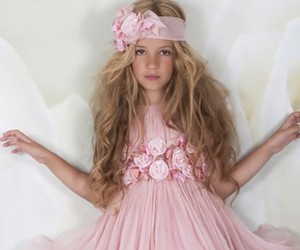 blonde, pink, and children image